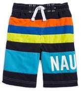 Nautica Boy's Zachary Multicolored Striped Swim Trunks