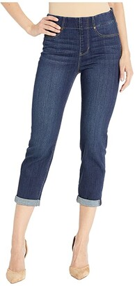 Liverpool Chloe Pull-On Crop Rolled Cuff in Mayfield Cuff (Mayfield Cuff) Women's Jeans