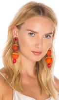Ranjana Khan Drop Earring in Orange.