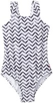 Seafolly Girls' Subtropical Tank One Piece Swimsuit (616) - 8148035