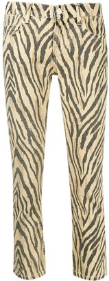 Current/Elliott zebra print cropped trousers