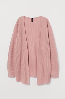 H&M Rib-knit Cardigan - Pink
