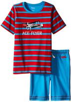Hatley Fighter Planes Tee & Shorts Set (Toddler/Little Kids/Big Kids)