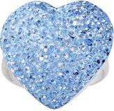 Body Candy Light Blue Sparkler Heart Adjustable Ring