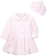 Emile et Rose Joyce Velour Coat & Beret (Baby Girls)