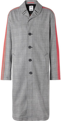 Adidas Consortium + 424 Striped Prince Of Wales Checked Woven Trench Coat