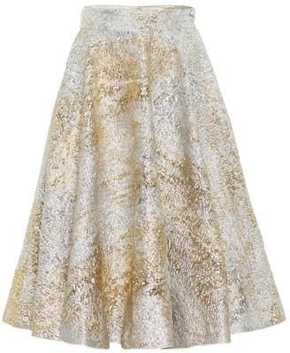 Dolce & Gabbana Metallic brocade midi skirt