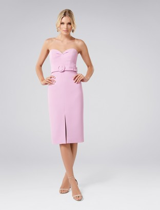 Forever New Claudia Belted Bodycon Dress - Pink - 16