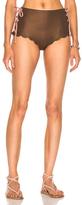 Marysia Swim Palm Springs Bikini Tie Bottom in Brown,Metallics.
