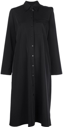 MM6 MAISON MARGIELA Draped Back Panel Shirt Dress
