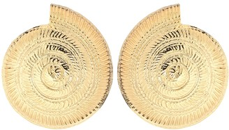 Tohum Design Archi 24kt gold-plated shell earrings