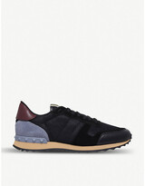 Valentino Garavani Rockrunner leather, suede and mesh trainers