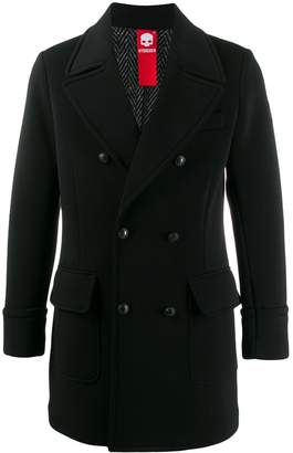 Hydrogen double-breasted fitted coat