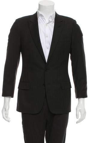 Christian Dior Two-Button Woven Blazer