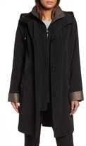Gallery Women's A-Line Raincoat With Detachable Hood & Liner