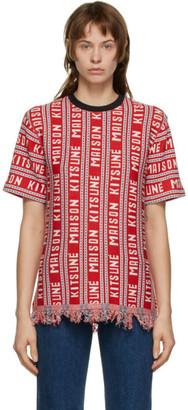 MAISON KITSUNÉ Red All-Over T-Shirt