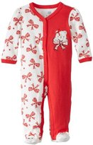 Vitamins Baby Girls Newborn Bear and Bows Coverall