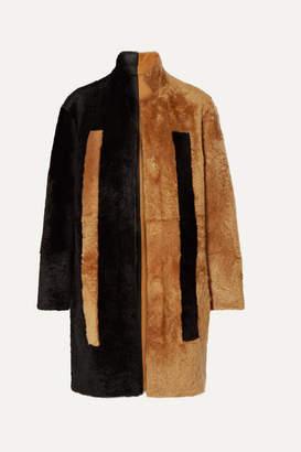 Akris Reversible Two-tone Shearling Coat - Black