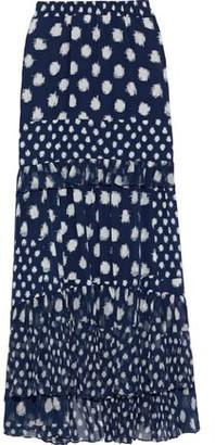 Diane von Furstenberg Lora Printed Silk Crepe De Chine And Georgette Maxi Skirt