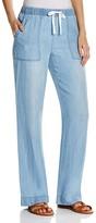 Prive Wide Leg Denim Drawstring Pants