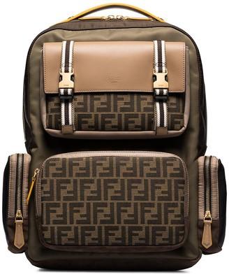 Fendi FF motif panelled backpack
