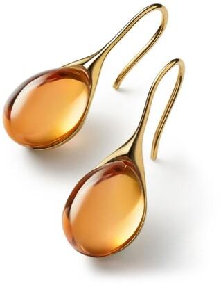Baccarat Vermeil and Crystal Galea Drop Earrings
