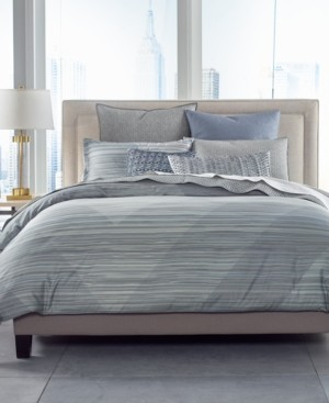Hotel Collection Cotton Diamond Stripe Full/Queen Comforter, Created for Macy's Bedding