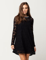 Others Follow Lace Overlay Dress