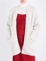 Vince Textured-knit wool and cashmere-blend cardigan