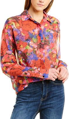 The Kooples Summer Night Silk Shirt
