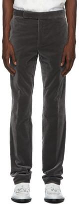 Ralph Lauren Purple Label Grey Velvet Gregory Trousers