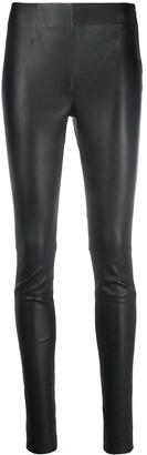 Gestuz High-Waisted Leather Leggings