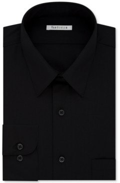 Van Heusen Men's Big & Tall Classic/Regular Fit Wrinkle Free Poplin Solid Dress Shirt
