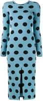 Natasha Zinko knitted polka dot dress - women - Polyester/Viscose - M