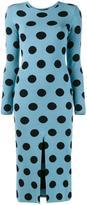 Natasha Zinko knitted polka dot dress - women - Viscose/Polyester - L
