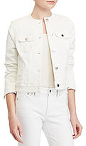 Lauren Ralph Lauren Collarless Denim Jacket