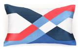 """Trina Turk 22\"""" x 12\"""" Coastline Ikat Pillow - Blue/Coral"""