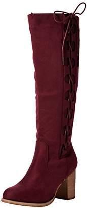 Joe Browns Women's Striking Side Lace Boots Riding, Red (Wine), 39 EU