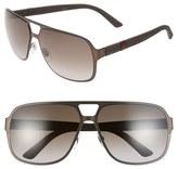 Gucci 62mm Aviator Sunglasses