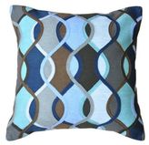 Amity Home Haley Square Throw Pillow in Grey/Blue