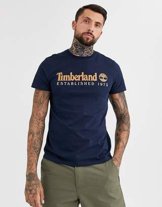Timberland heritage chest logo t-shirt in navy