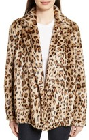 Theory Women's Clairene Leopard Print Faux Fur Coat