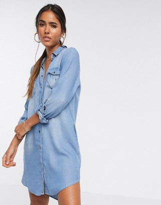 Vero Moda denim shirt dress
