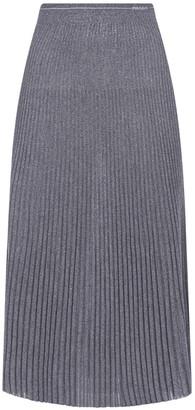 Prada Pleated Knitted Skirt