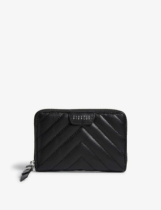 Claudie Pierlot Answer quilted leather purse