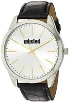 UNLISTED WATCHES Men's 'Classic' Quartz Metal and Alloy Casual Watch, Color:Black (Model: 10027782)