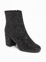 Old Navy Glitter Block Heel Boots for Women