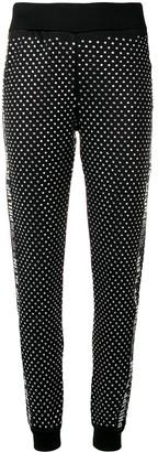 Philipp Plein Crystal Embellished Track Pants