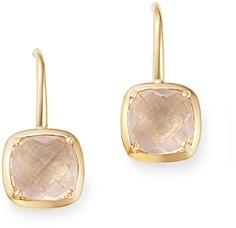 Bloomingdale's Rose Quartz Square Drop Earrings in 14K Yellow Gold - 100% Exclusive