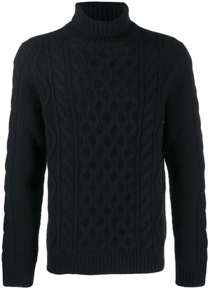 Alanui Cable-Knit Roll-Neck Jumper